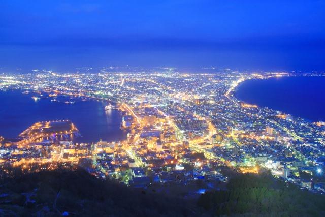 """1. """"ภูเขาฮาโกะดาเทะ"""" วิวยามค่ำคืนแสนโรแมนติกที่ห้ามพลาด(Mt. Hakodate)"""