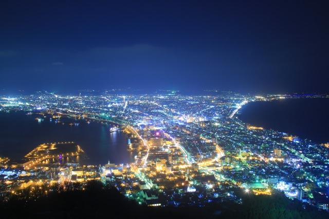 """3. """"ภูเขาฮาโกดาเทะ"""" กับการดื่มด่ำวิวยามค่ำคืนที่สวยงามของฮอกไกโด(Mt.Hakodate)"""